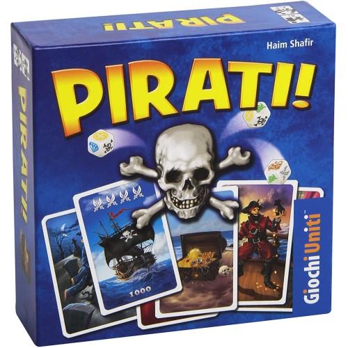 Gioco da tavolo dei Pirati, con dadi e carte, per tutta la famiglia