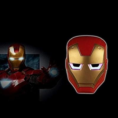 Maschera Iron Man - Adulti - Bambini - Travestimento - Carnevale - Halloween - cosplay - ottima qualità - idea regalo origina