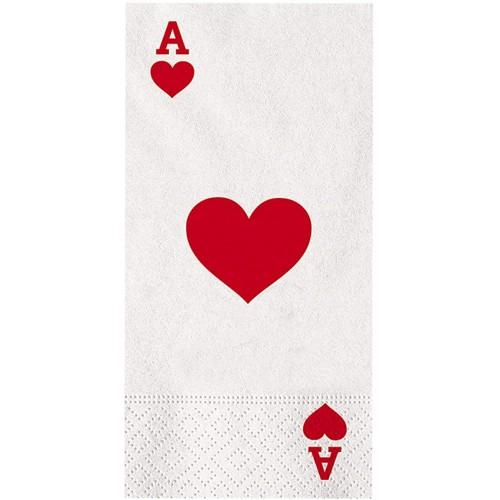 Confezione da 16 tovaglioli Poker da 22 x 11 cm, usa e getta, per feste