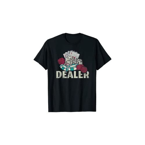 Maglietta tema Dealer, Poker e gioco d'azzardo, idea regalo
