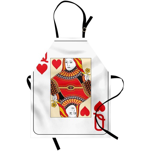 Grembiule da cucina, tema Regina di Poker, idea regalo