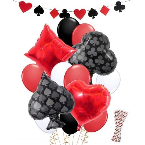 Bouquet di palloncini tema Poker, decorazioni per feste