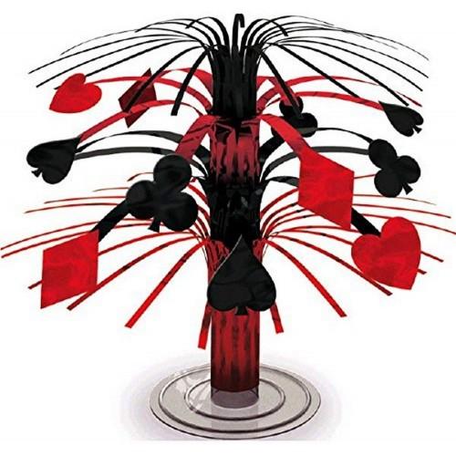 Centrotavola tema Poker, Casinò, decorazione piccola cascata