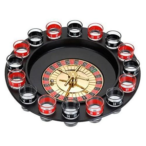 Gioco Roulette russa con 16 bicchierini da drink, per feste divertenti