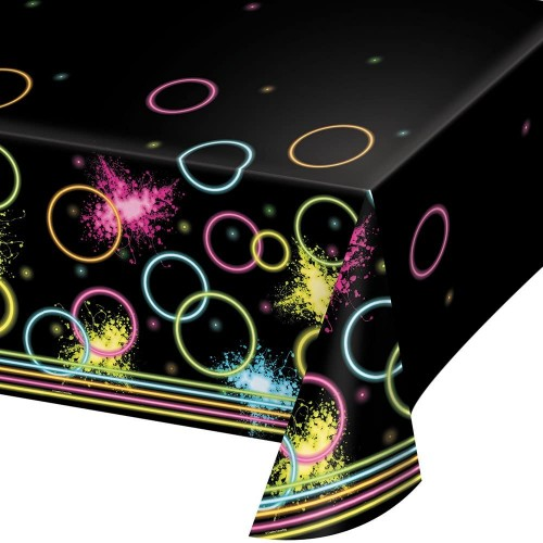 Tovaglia per feste fluo party da 137 x 260 cm - Glow Party