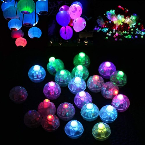 Set da 30 mini led per palloncini, fluo party
