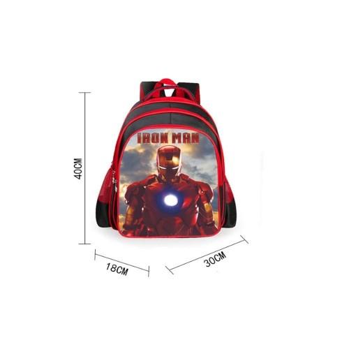 CHQYY Borsone per Bambini - Iron Man Cartone Animato per Bambini Scuola elementare 1-4 Zaino Ultra Leggero di Grado Zaino/Zai