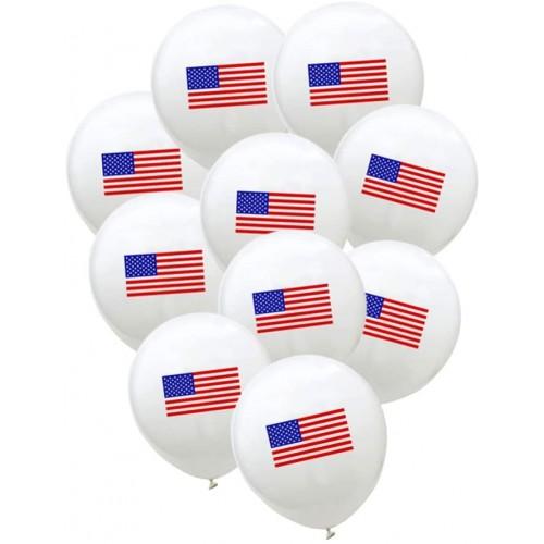 Kit 10 palloncini USA, bandiera americana, in lattice