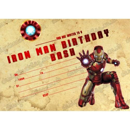 10 Inviti compleanno Iron Man