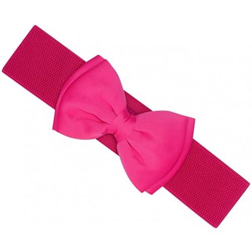 Cintura elastica con fiocco da Pin Up, colore magenta