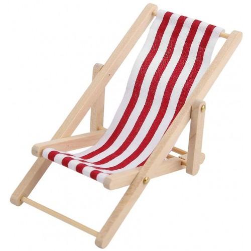 Mini Sedia da Spiaggia per bambole stile vintage, Pin Up