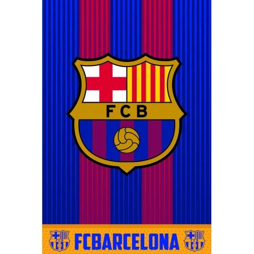 Coperta in pile F.C Barcelona, idea regalo, originale