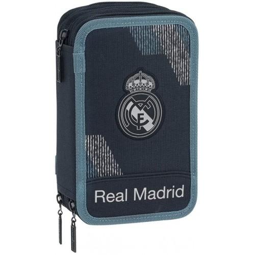 Astuccio scuola Real Madrid, 21 cm, Blu, con zip, prodotto ufficiale