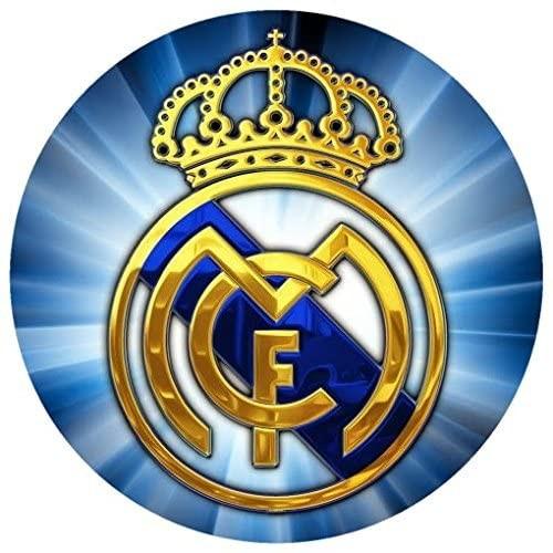 Cialda per torta F.C Real Madrid, cake topper senza glutine