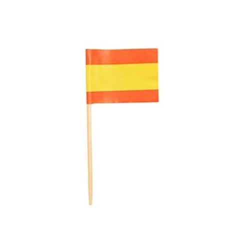 Set da 500 bandierine Spagna da 8 cm, per aperitivi e drink