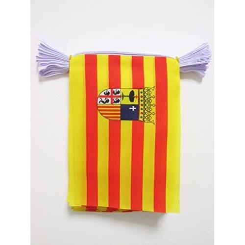 Festone Spagna da 6 metri, con bandierine da 21 x 15 cm