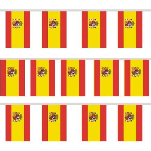 Ghirlanda con 12 bandierine rettangolari bandierine della Spagna