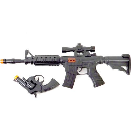 Kit con Fucile e pistola giocattolo, con suoni, idea regalo