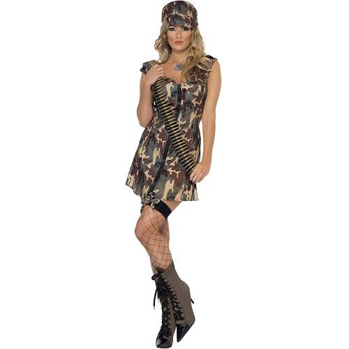 Costume militare per ragazze, stile mimetico, soldatessa
