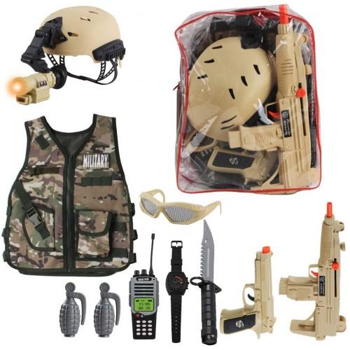 Costume da Soldato mimetico per bambini, set da combattimento