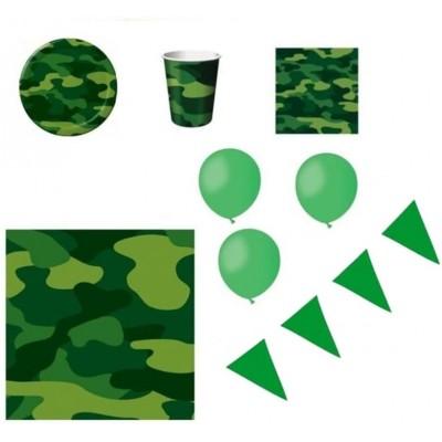 Kit per 8 persone festa Militare, coordinato tavola e accessori