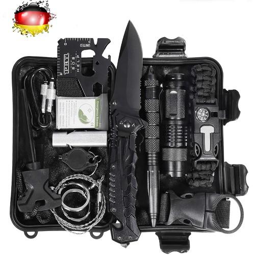 Kit di sopravvivenza militare, 15 accessori multiuso