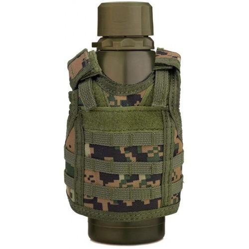 Mini Gilet militare portabottiglie, con cinghie regolabili, gadget