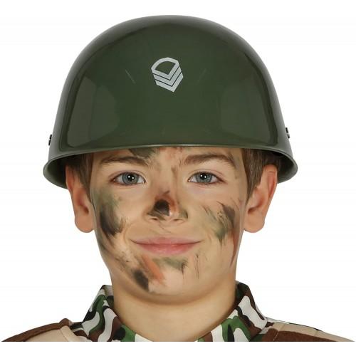Casco da soldato militare per bambini, per travestimenti di Carnevale