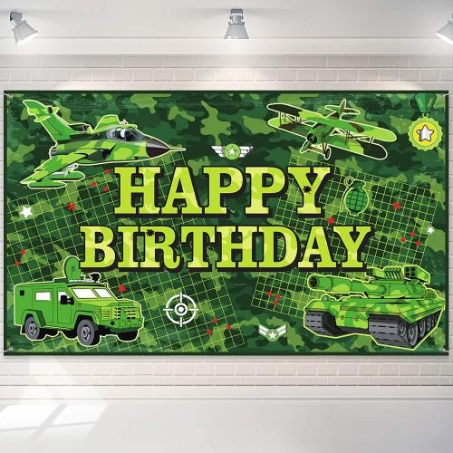 Sfondo fotografico mimetico Militare, Happy Birthday