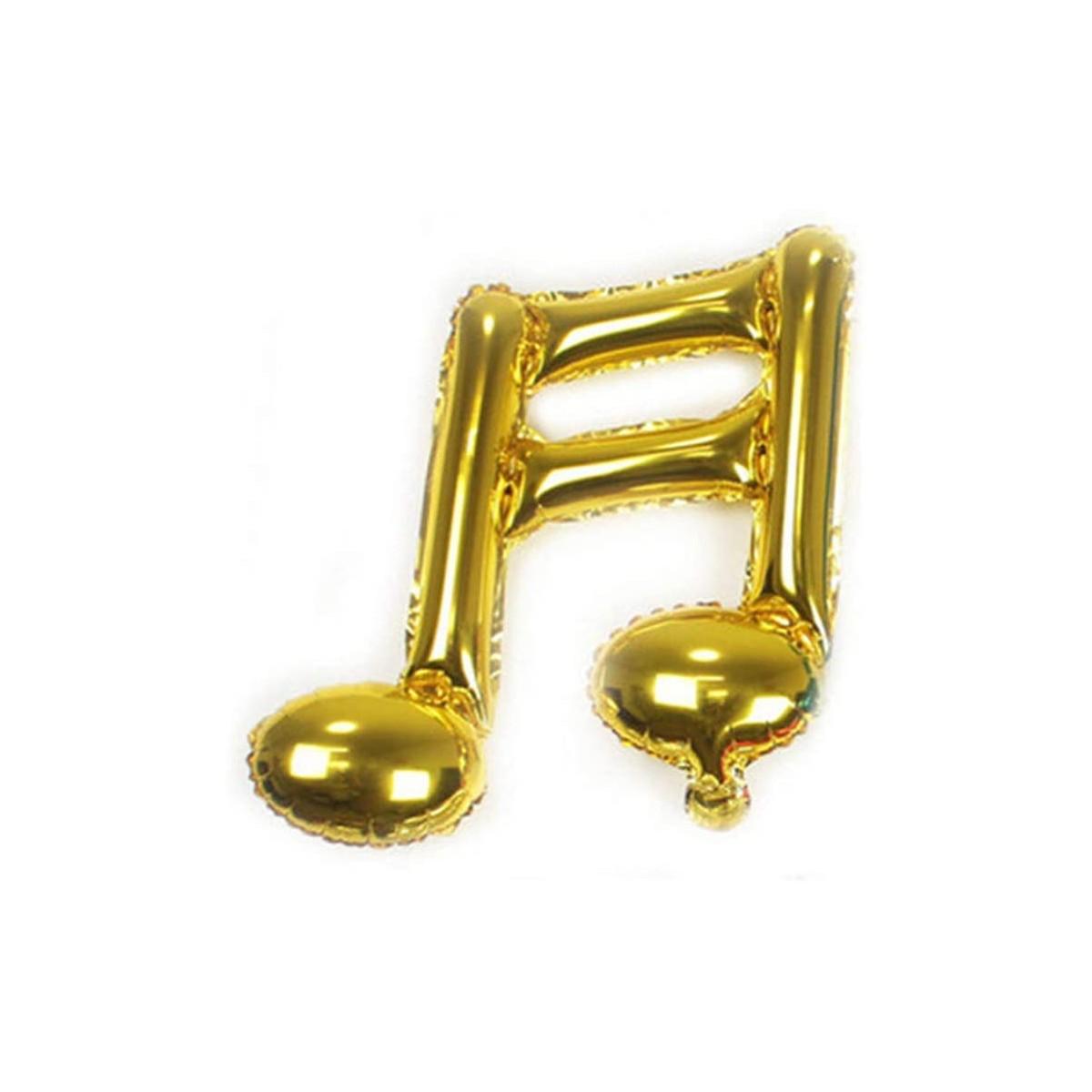 Palloncino in mylar Note Musicali, colore oro, da 45 cm
