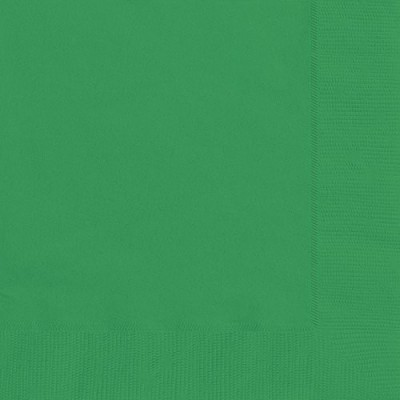 Set da 20 Tovaglioli di carta verdi da 16,5cm