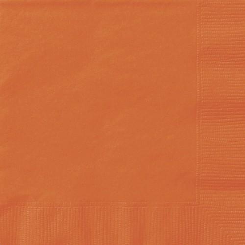 Set da 20 Tovaglioli arancioni, tinta unita, per feste