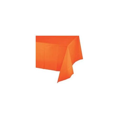 Tovaglia plastificata arancione, in PVC, per feste