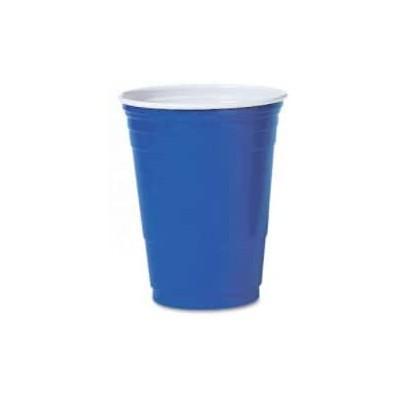 Set da 100 bicchieri blu monouso, da 500 ml, per feste a tema