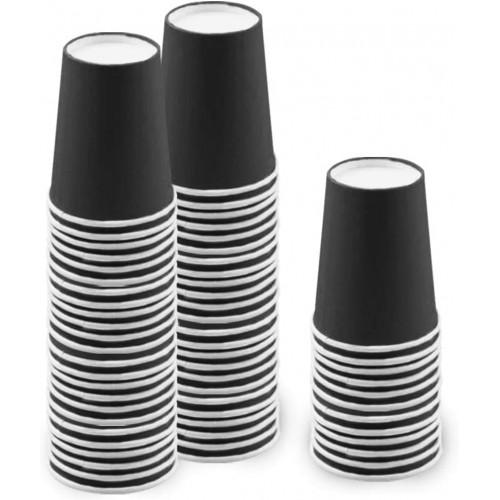 Set da 60 bicchieri neri, compostabili, biodegradabili, per feste
