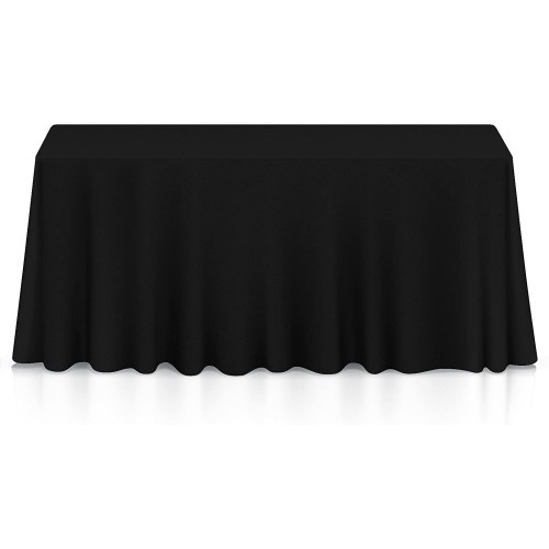 Tovaglia nera per feste, in cotone e nylon, da 360 x 177 cm