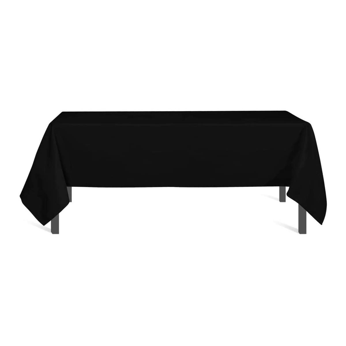 Tovaglia nera rettangolare 140 x 300 cm, per feste a tema