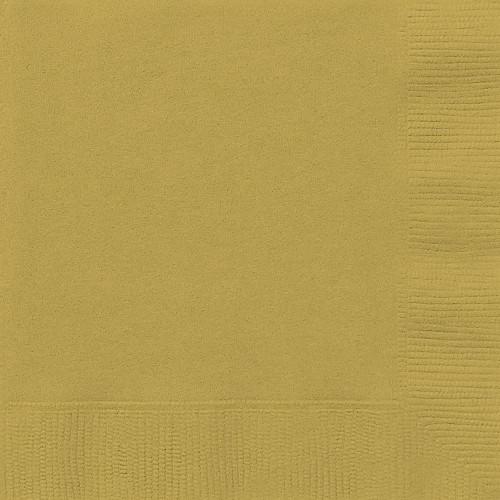 Set da 50 Tovaglioli di carta Dorati, colore oro, per feste a tema