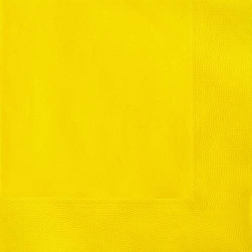 Set da 50 tovaglioli gialli, 16,5 x 16,5 cm, per feste