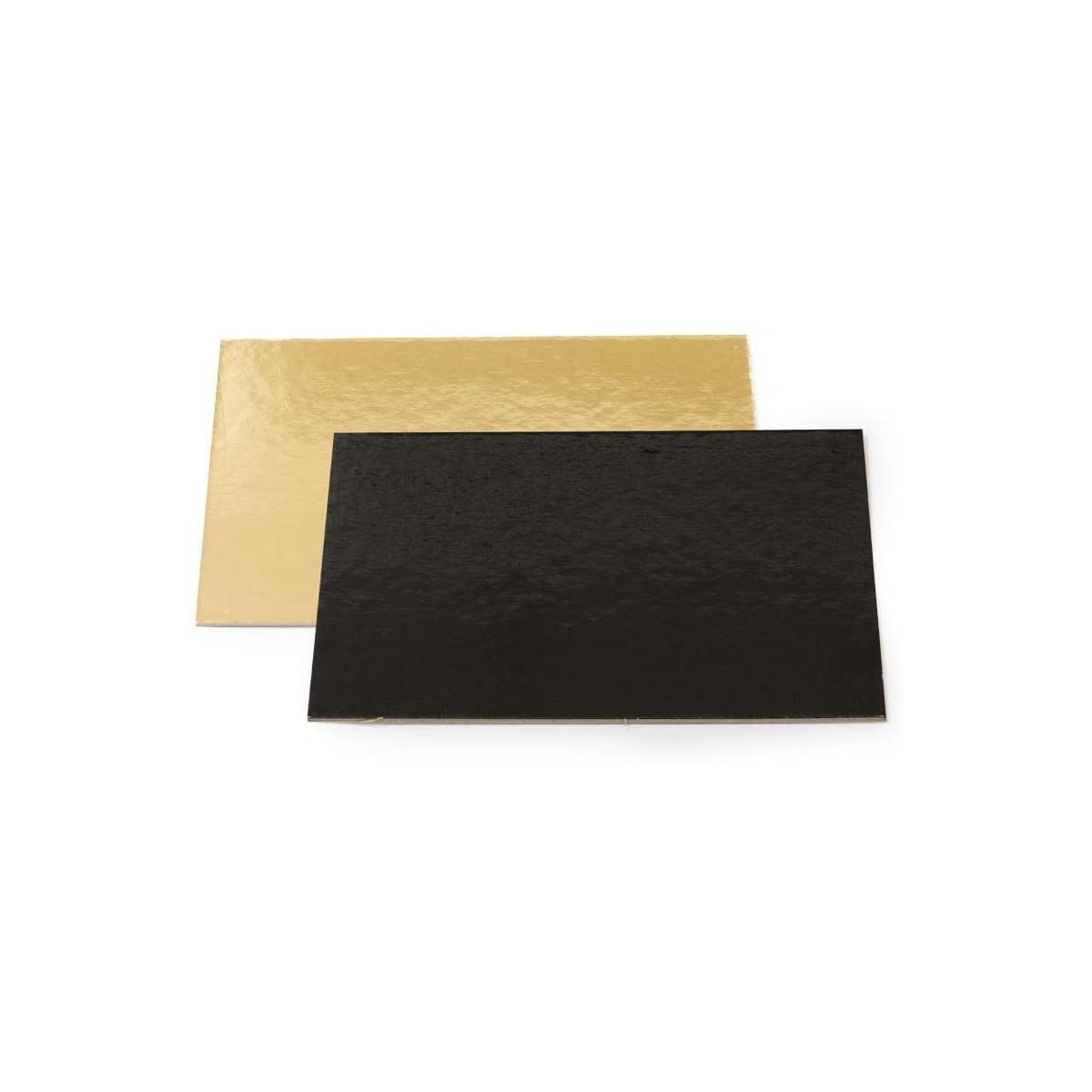 Piatto torta rettangolare colore oro e neo, da 40 x 30 cm