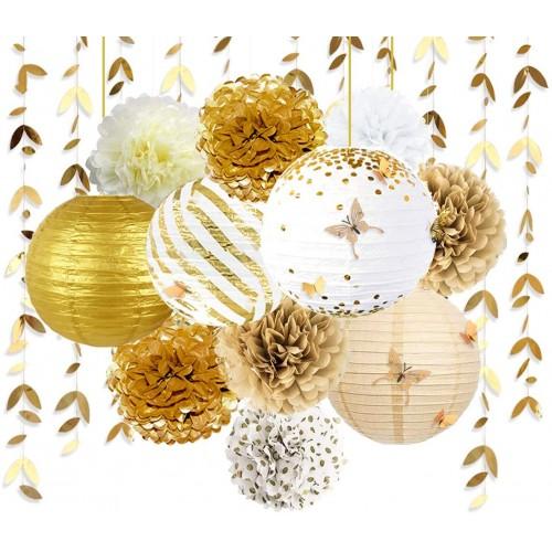 Set 41 decorazioni Oro, per feste Chic ed eleganti
