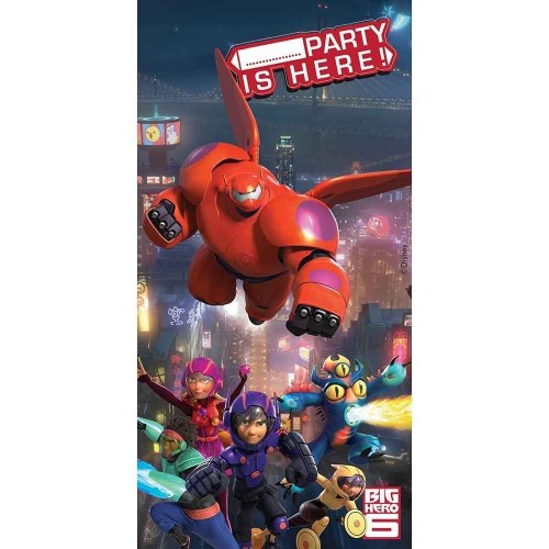 Poster adesivo porte Big Hero 6