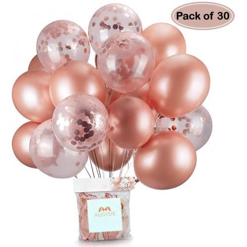 Set da 30 palloncini Rosa Gold in lattice, per feste di compleanno Chic