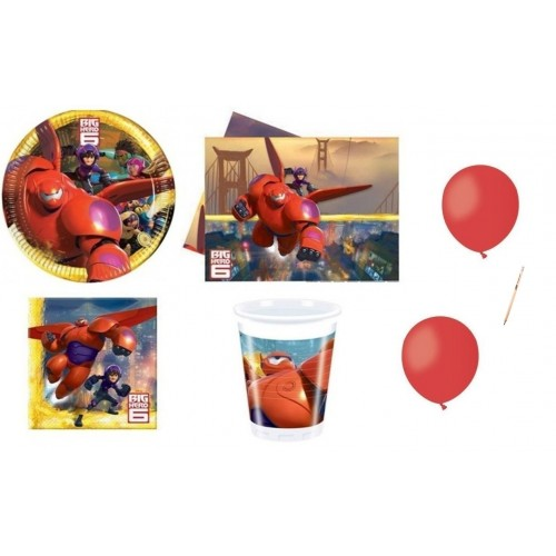 Kit 40 persone Big Hero con palloncini