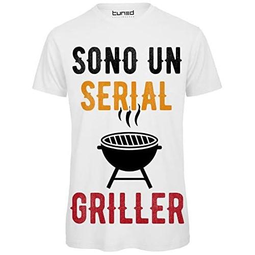 T-shirt uomo Sono un serial griller grill grigliata barbecue BBQ lover!