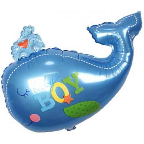 Palloncino baby balena, in alluminio, per feste