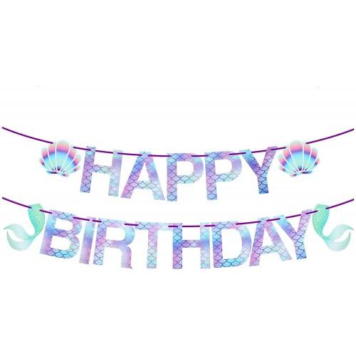Ghirlanda Buon Compleanno tema Sirena