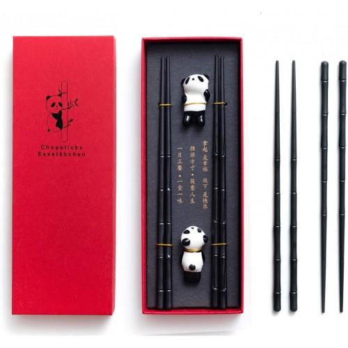 Set bacchette Cinesi in ceramica con simbolo del panda