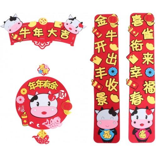 Set 4 Distici per Capodanno Cinese, decorazioni per feste