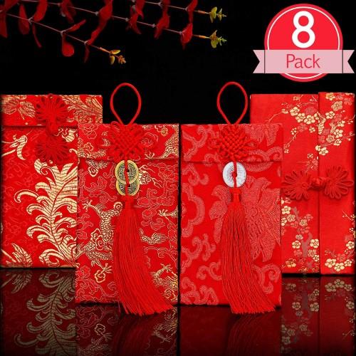 Set da 8 buste Cinesi rosse, per regali o Capodanno Cinese